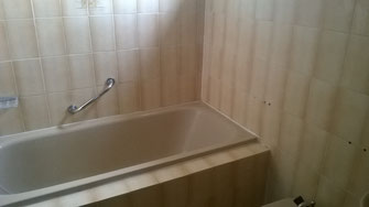 Salle de bain beton-cire avant application