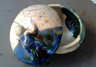 Portagioie in ceramica raku - Le Terre di Rò