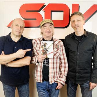 Olly Hahn (A&R Steamhammer) - Peter Knorn (Autor) - Frank Uhle (Geschäftsführer SPV)