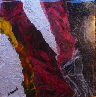 Collage + Resin - Abstract - by Anne Berendt