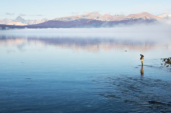Fly fish Central Patagonia, Argentina, FFTC.club destination, El Encuentro Fly Fishing, Fly fish freshwater destinations. Wild and Trophy Trout, Brook trout, Lake fishing