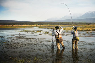 Fly fish Central Patagonia, Argentina, FFTC.club destination, El Encuentro Fly Fishing partnered Tres Valles Lodge, Fly fish freshwater destinations. Wild and Trophy Trout. Fly fishing at Rio Pico area.