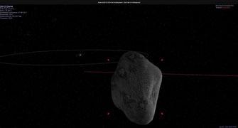 Asterois DA14 | Grafik: Celestia