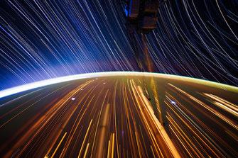 Langzeitbelichtung, die Erde von der ISS aus | Foto: NASA
