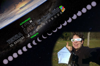 Fotos und Sonnenkette: T@E | Hintergrundfoto: ISS, NASA