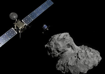 "Raumsonde Rosetta - Lander Philae - Komet ""Tschury"" | Grafik: ESA"