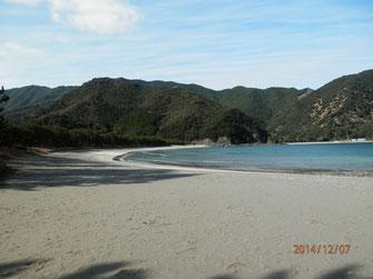 冬の蒲江波当津海岸