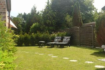 Terrasse / Garten Ferienwohnung Norddeich Lütje Möv