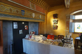 galerie pépite de lave, lave émaillée artisanat d'art à la maison du médecin du Roy de Murat