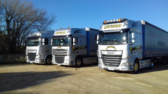 Lorries awaiting their turn 10 miles from site