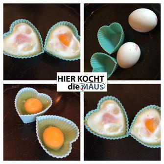 Eier aus dem Backofen