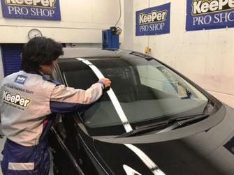 ボディを3層構造のダブルダイヤキーパープレミアムで守り、ボンネット、トランクの裏、ドアヒンジ、塗装してある部分を全てガラスコーティングします。