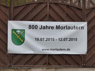 Banner 800 Jahre Morlautern