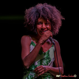 "Mayomi Moreno ""Mayomi Moreno Project"". Festival JAZZ360 2018, Latresne. Dimanche 10 juin 2018. Photographie : Christian Coulais"