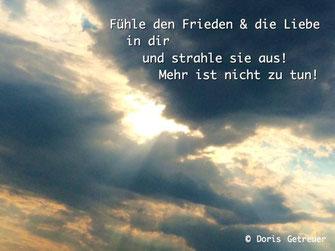 Doris Getreuer, Frieden und Liebe