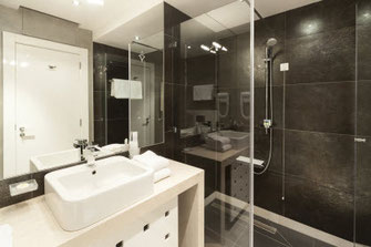When it comes to remodeling a bathroom, like this one, contact the experts at Labonte Plumbing in Blowing Rock, NC.