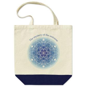 曼荼羅(まんだら)アートトートバッグデザイン作成買い物袋マンダラたくさん入る
