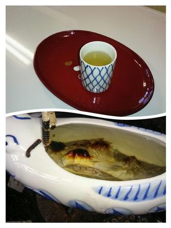 岩魚の骨酒、富山、日本酒