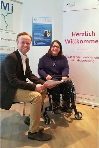 Jan Metzler MdB und Stefanie Geiser im Gespräch. Foto:  Florian Wenskus.