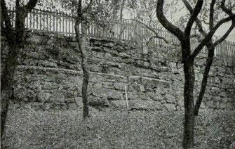 Reste der Dommauer an der Südwestseite der Domburg