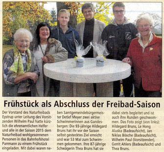 Kreiszeitung vom 05. November 2015
