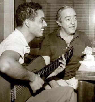 Vinicius de Moraes und Baden Powell  (Privatsammlung von Phillipe Baden Powell)