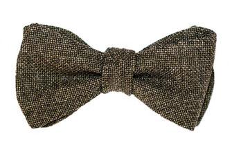 Herren Anzug Fliege grau stukturiert zum selbstbinden - Schleife