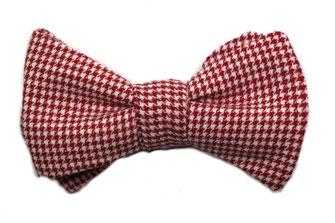 Anzug Fliege zum selbstbinden in rot weiß kariert - cowboy - oktoberfest - western - schleife