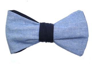 Blaue Wendefliege zum selbstbinden in vier Kombinationen in hellblau blau