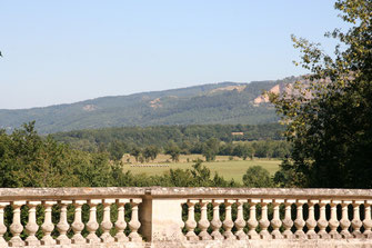 View from the castle garden on the Montagne Noire (= Black Mountain)