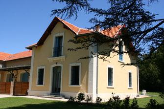 """Blick auf die Vorseite der Ferienwohnung """"Jagdhaus"""""""