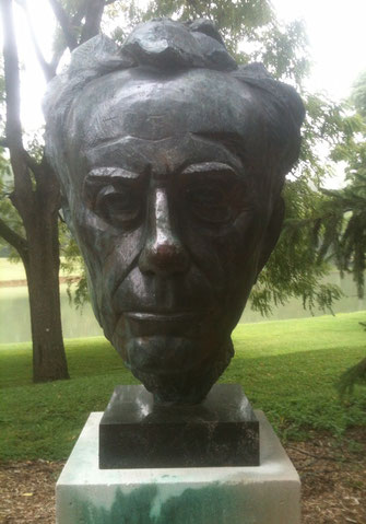 Paul Tillich's Bust in New Harmony, IN