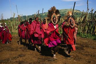 Un gruppo masai.