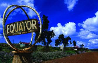 La vecchia stazione ferroviaria dell'equatore, a nord-ovest di Nakuru