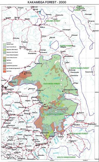 Kakamega Forest National Reserve - Map