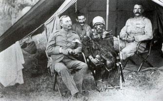 """Lenana, un """"uomo della medicina"""" masai intorno al 1890."""