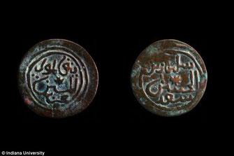 Monete di rame prodotte nellì'Africa sub-sahariana probabilmente appartenenti all'antico Sultanato di Kilwa.