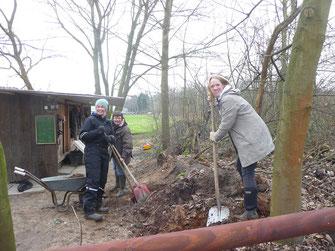 Arbeitseinsatz im Februar: Platz schaffen für neue Büsche und Bäume