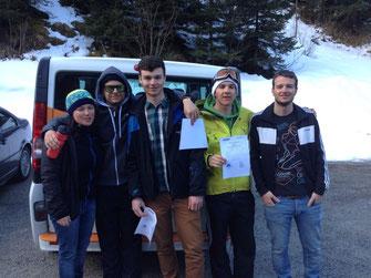 Erfolgreich abgelegte Trainerausbildung v.l.:Tanja, Chris, Jan, Lucas und Martin