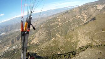 Fluggebiet Castala mit Blick auf die Sierra Nevada