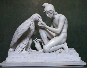 Bertel Thorvaldsen, Ganymed (Marmorgruppe von 1817