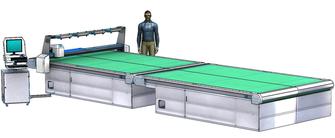 Schneideanlage mit mitfahrendem Scan-Portal