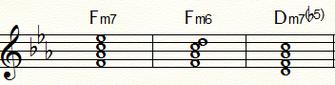 Fm7とFm6およびDm7b5
