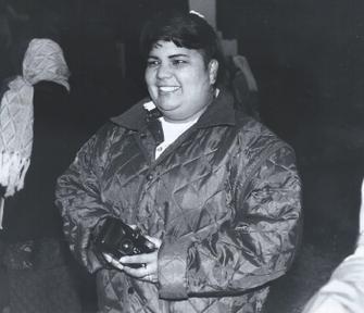 Liliana Sanchez beim Besuch in Auw am 10. Oktober 1995