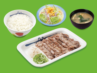 松屋の牛焼肉定食の写真