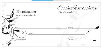 Gutschein Phönixzauber Onlineshop