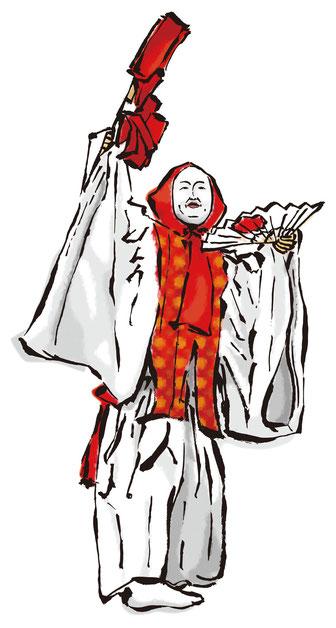 鈿女の舞イラスト