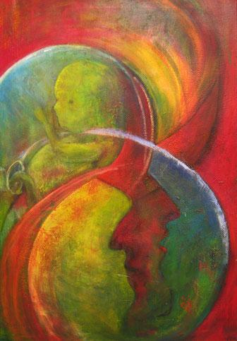 BDL 0908, Acryl auf Leinwand 100x 70 cm