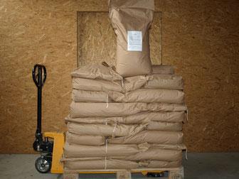 Unsere Jud Spezialmischung, das Naturafutter, abgefüllt in 25 kg Säcken