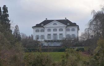 Schloss Eugensberg heute; Sicht von Norden